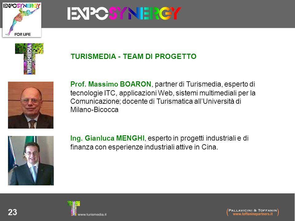 23 TURISMEDIA - TEAM DI PROGETTO Prof. Massimo BOARON, partner di Turismedia, esperto di tecnologie ITC, applicazioni Web, sistemi multimediali per la