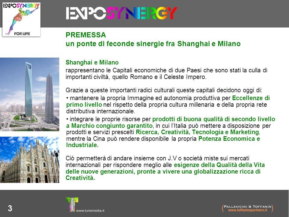 3 Shanghai e Milano rappresentano le Capitali economiche di due Paesi che sono stati la culla di importanti civiltà, quello Romano e il Celeste Impero
