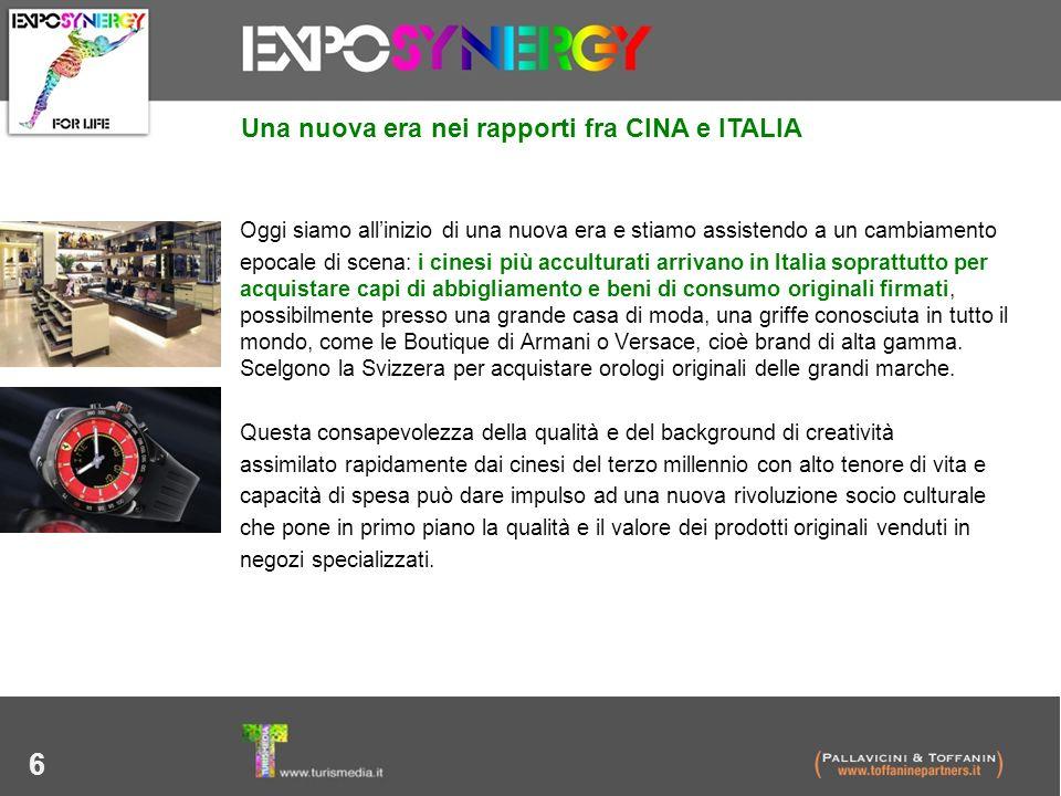 6 Una nuova era nei rapporti fra CINA e ITALIA Oggi siamo allinizio di una nuova era e stiamo assistendo a un cambiamento epocale di scena: i cinesi p