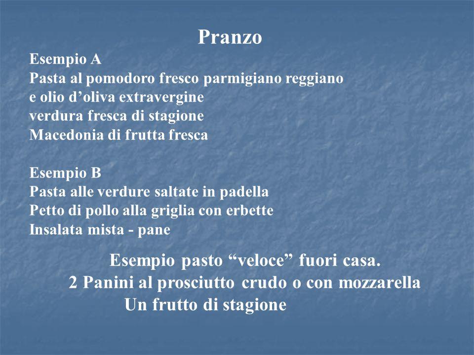 Pranzo Esempio A Pasta al pomodoro fresco parmigiano reggiano e olio doliva extravergine verdura fresca di stagione Macedonia di frutta fresca Esempio