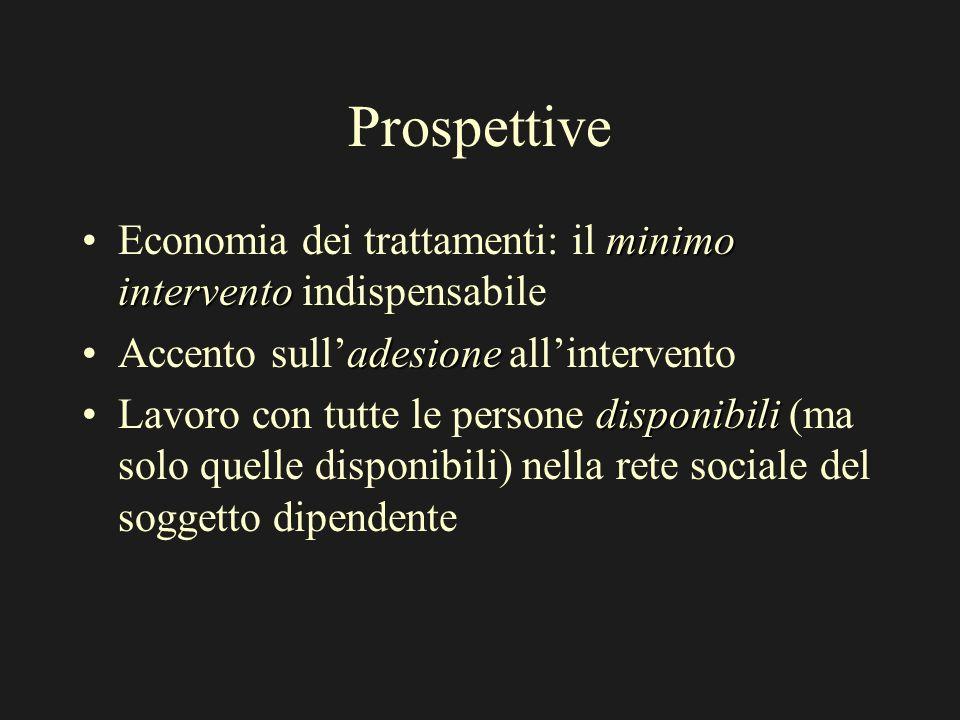 Prospettive minimo interventoEconomia dei trattamenti: il minimo intervento indispensabile adesioneAccento sulladesione allintervento disponibiliLavor