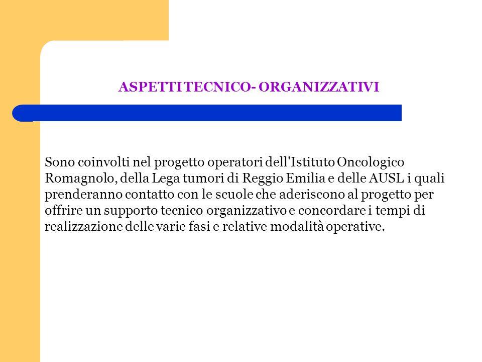 Sono coinvolti nel progetto operatori dell'Istituto Oncologico Romagnolo, della Lega tumori di Reggio Emilia e delle AUSL i quali prenderanno contatto