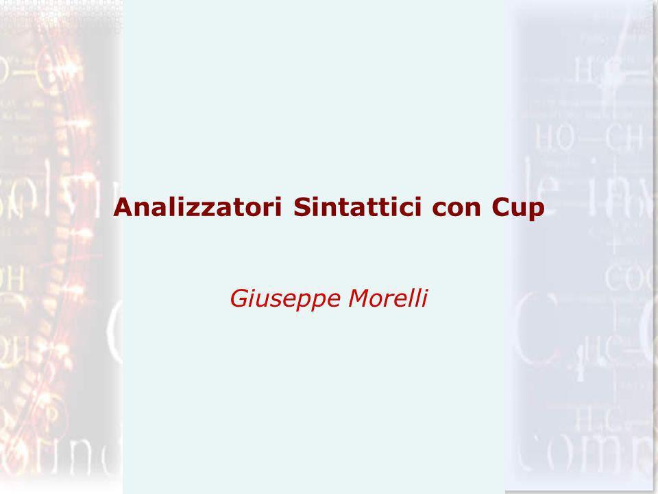 Analizzatori Sintattici con Cup Giuseppe Morelli