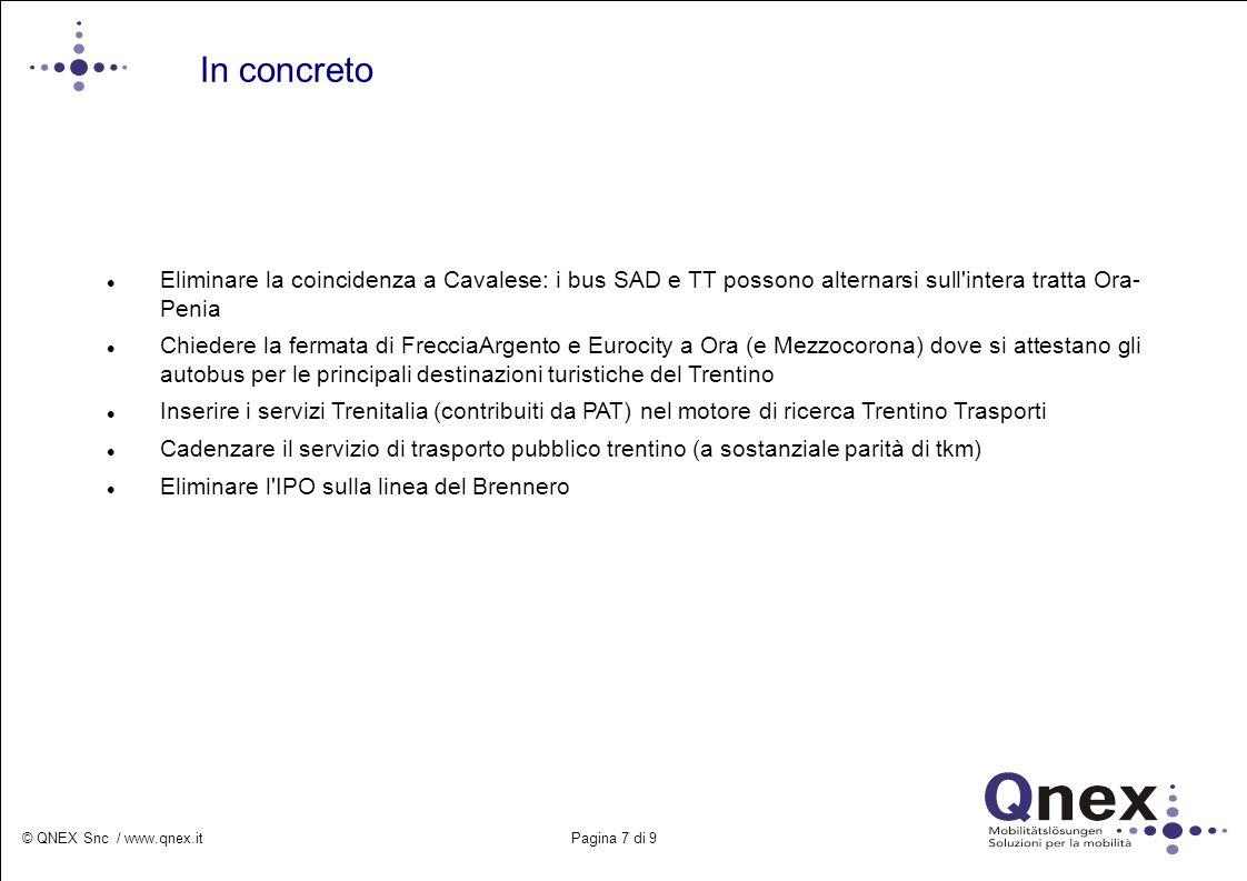 © QNEX Snc / www.qnex.it Pagina 8 di 9 A livello mondiale, europeo e nazionale si assiste ad una rinascita nel trasporto pubblico su gomma e su rotaia.