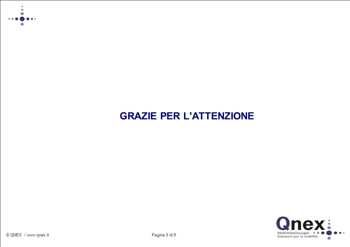© QNEX / www.qnex.it Pagina 9 di 9 GRAZIE PER L'ATTENZIONE
