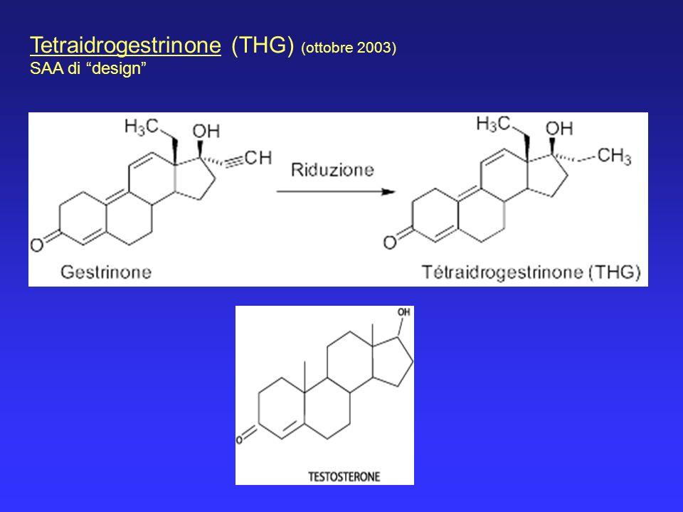 Tetraidrogestrinone (THG) (ottobre 2003) SAA di design