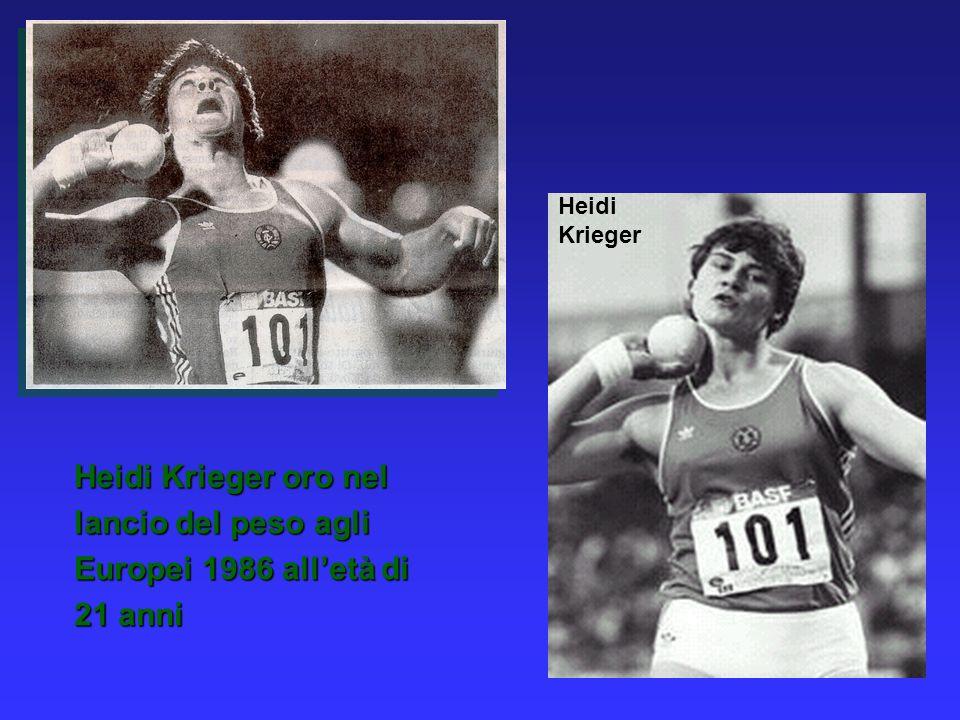Heidi Krieger Heidi Krieger oro nel lancio del peso agli Europei 1986 alletà di 21 anni