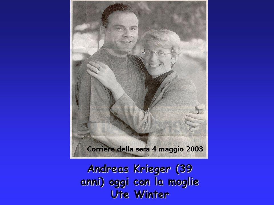 Andreas Krieger (39 anni) oggi con la moglie Ute Winter Corriere della sera 4 maggio 2003