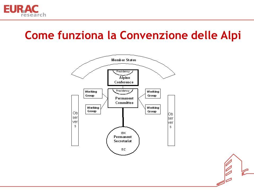 Come funziona la Convenzione delle Alpi Come funziona la Convenzione delle Alpi