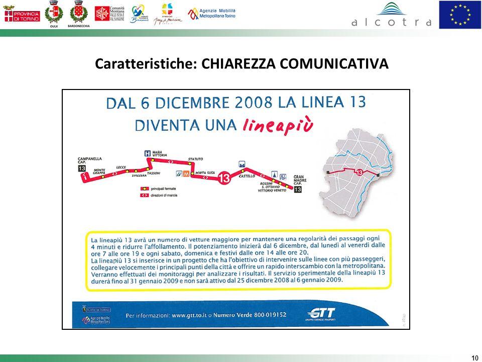 10 Caratteristiche: CHIAREZZA COMUNICATIVA