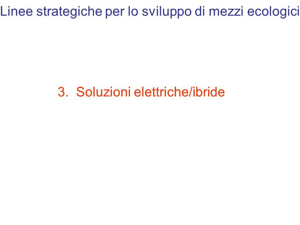 Linee strategiche per lo sviluppo di mezzi ecologici 3. Soluzioni elettriche/ibride