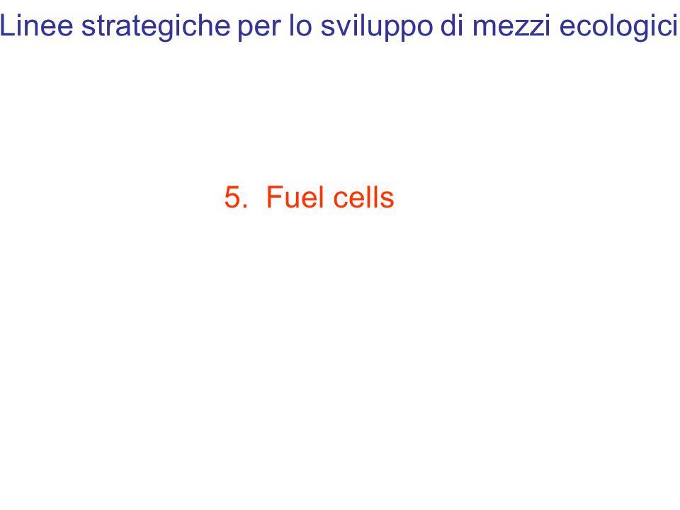 Linee strategiche per lo sviluppo di mezzi ecologici 5. Fuel cells