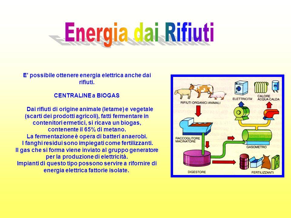 E possibile ottenere energia elettrica anche dai rifiuti.