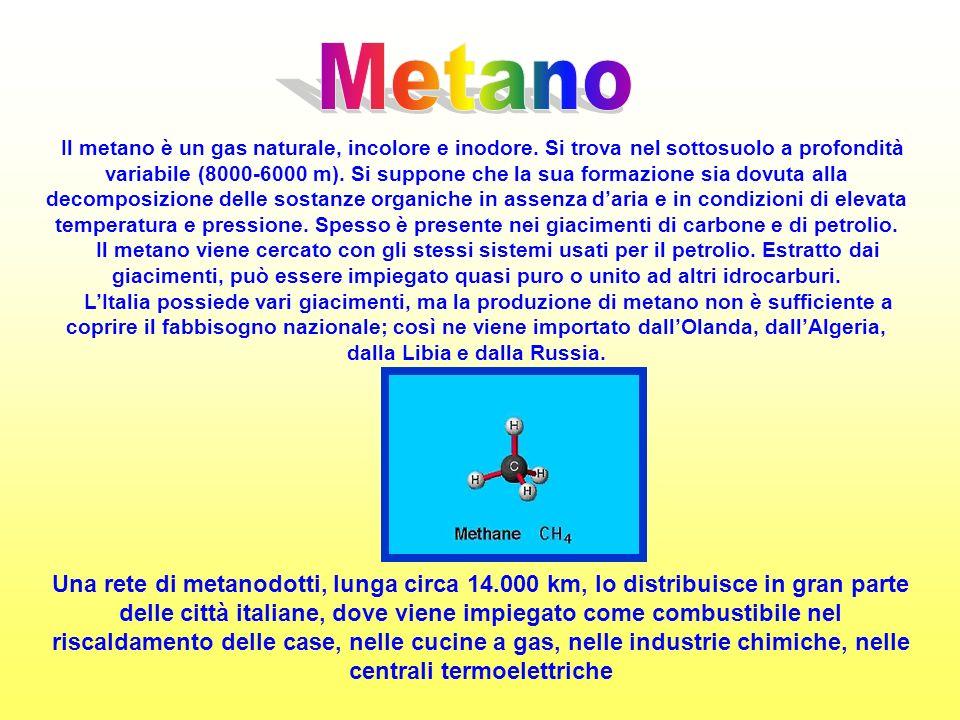 Il metano è un gas naturale, incolore e inodore.