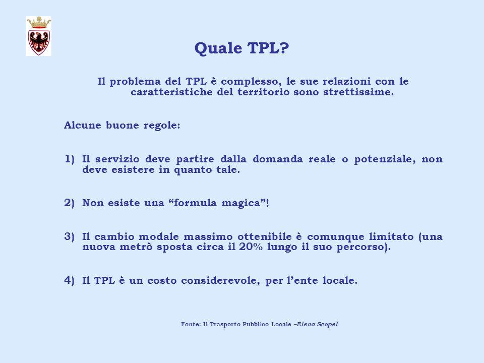 Il problema del TPL è complesso, le sue relazioni con le caratteristiche del territorio sono strettissime.