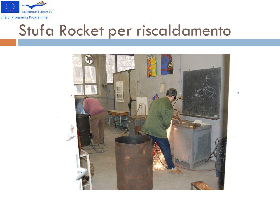 Stufa Rocket per riscaldamento