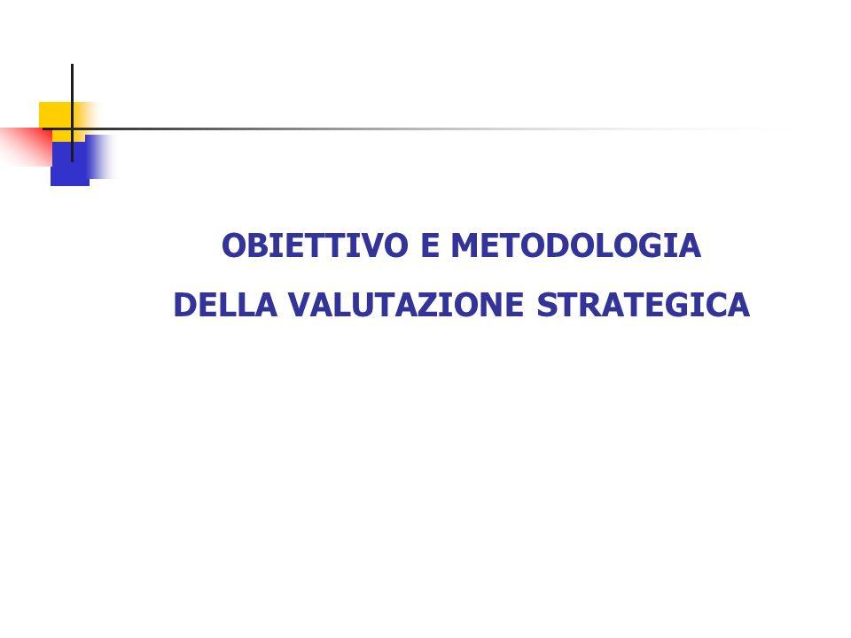OBIETTIVO E METODOLOGIA DELLA VALUTAZIONE STRATEGICA