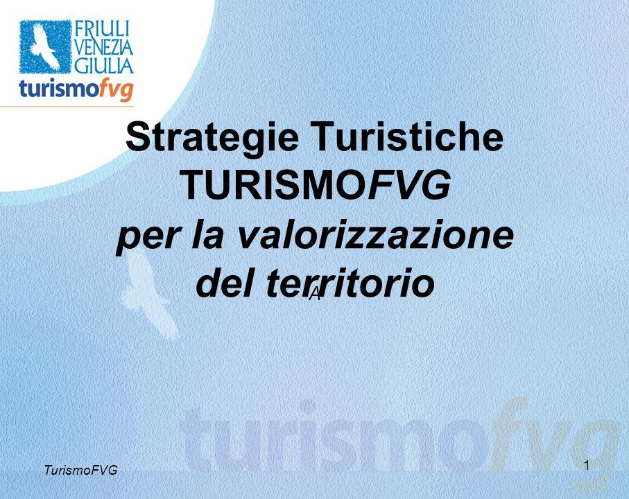 1 Strategie Turistiche TURISMOFVG per la valorizzazione del territorio A TurismoFVG