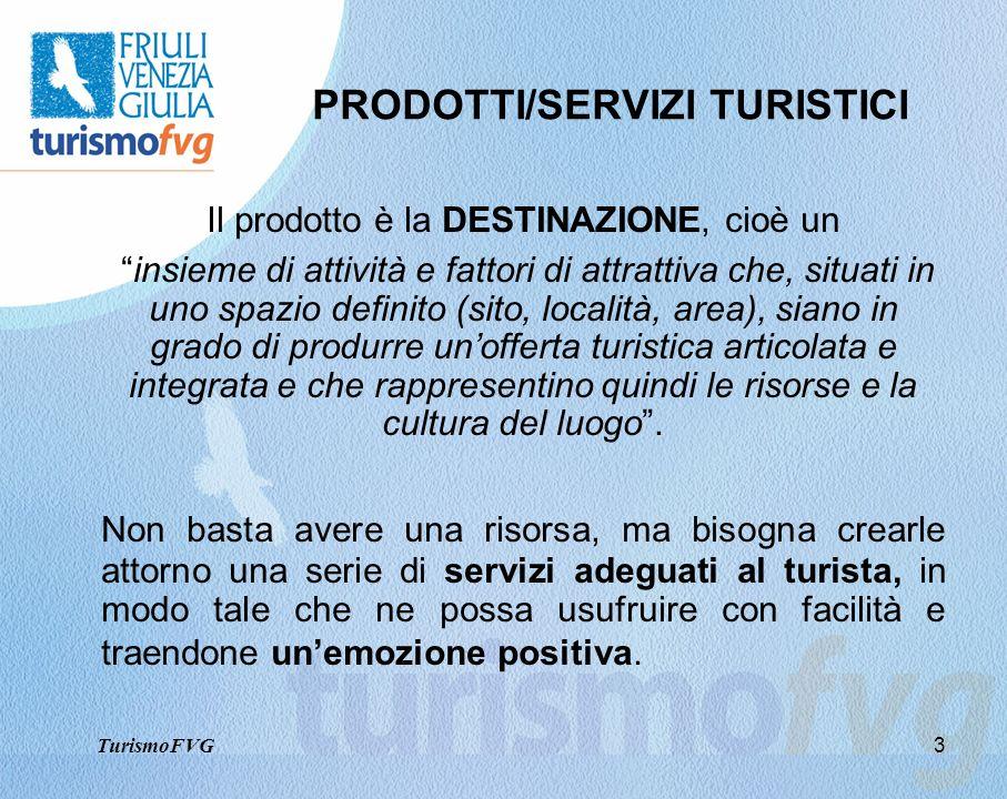 3 PRODOTTI/SERVIZI TURISTICI Il prodotto è la DESTINAZIONE, cioè un insieme di attività e fattori di attrattiva che, situati in uno spazio definito (s