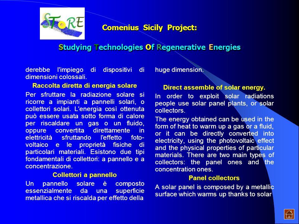 Per sottolineare il valore di questa fonte di energia, basti pensare che senza di lei non si sarebbe verificata la for- mazione di biomasse e quindi d