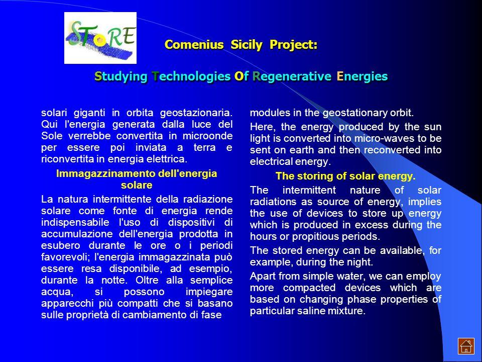 l'arco del giorno. Celle fotovoltaiche Le celle solari realizzate con sottili lamelle di silicio cristallino, arseniuro di gallio o altri materiali se