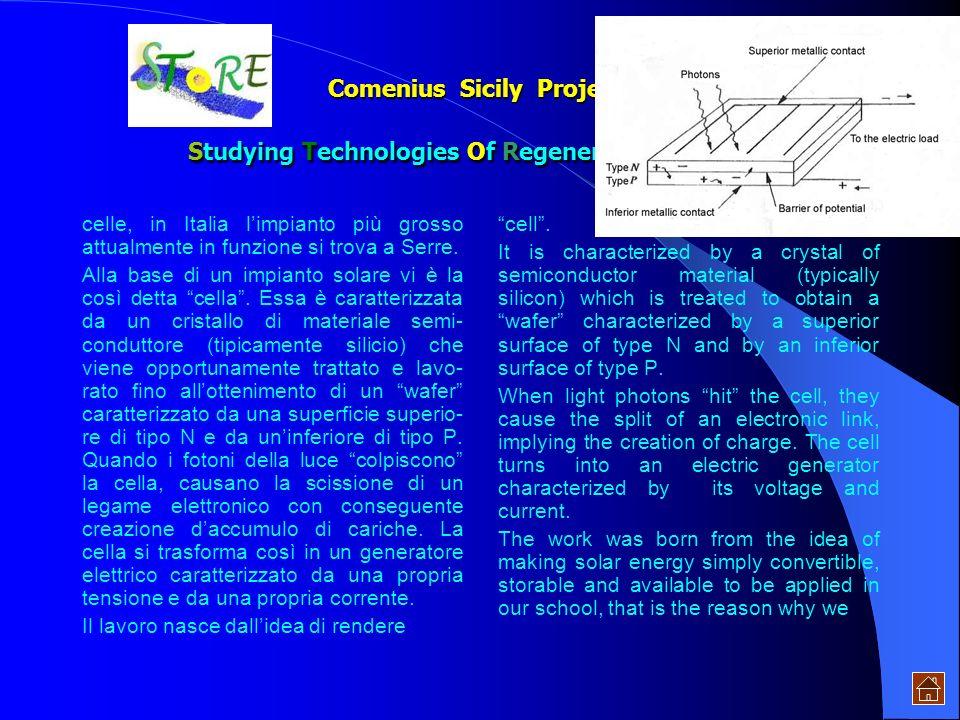 Comenius Sicily Project: Studying Technologies Of Regenerative Energies Ogni singola giunzione a semi- conduttore sfrutta, come già detto, leffetto fo