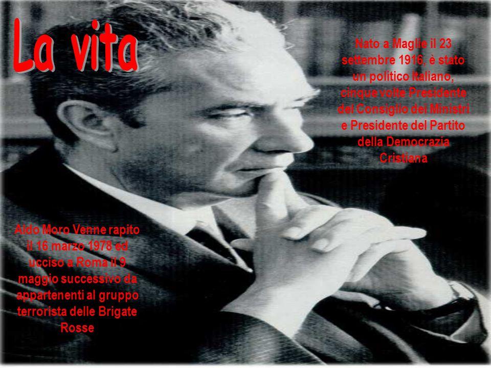Nato a Maglie il 23 settembre 1916, è stato un politico Italiano, cinque volte Presidente del Consiglio dei Ministri e Presidente del Partito della De