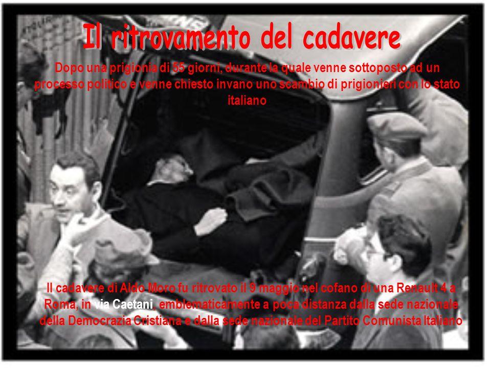 Per Caso Moro si intende l insieme delle vicende dell agguato, sequestro, prigionia ed uccisione di Aldo Moro e delle ipotesi e ricostruzioni, spesso discordanti fra di loro, degli eventi che avvennero in quel periodo Caso Moro