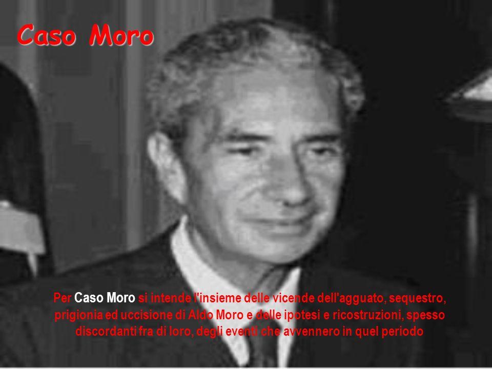 Per Caso Moro si intende l'insieme delle vicende dell'agguato, sequestro, prigionia ed uccisione di Aldo Moro e delle ipotesi e ricostruzioni, spesso