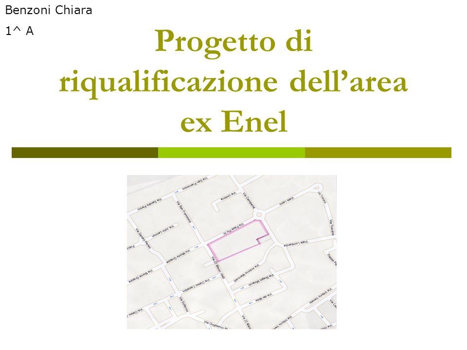 Progetto di riqualificazione dellarea ex Enel Benzoni Chiara 1^ A