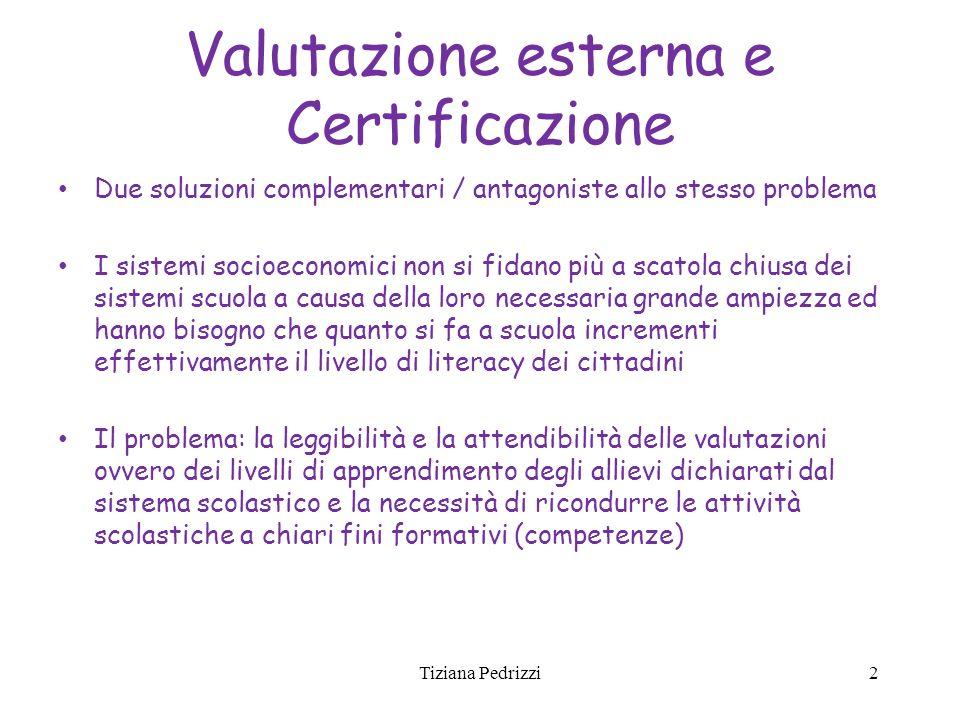 Valutazione esterna e Certificazione Due soluzioni complementari / antagoniste allo stesso problema I sistemi socioeconomici non si fidano più a scato