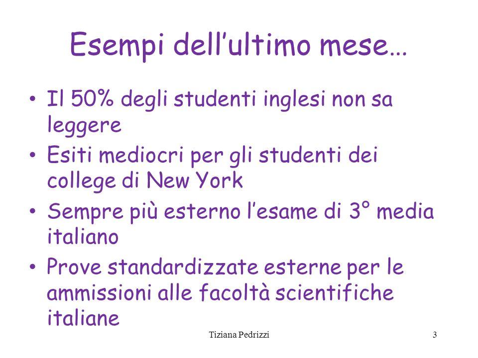 Esempi dellultimo mese… Il 50% degli studenti inglesi non sa leggere Esiti mediocri per gli studenti dei college di New York Sempre più esterno lesame