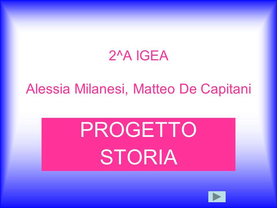 2^A IGEA Alessia Milanesi, Matteo De Capitani PROGETTO STORIA