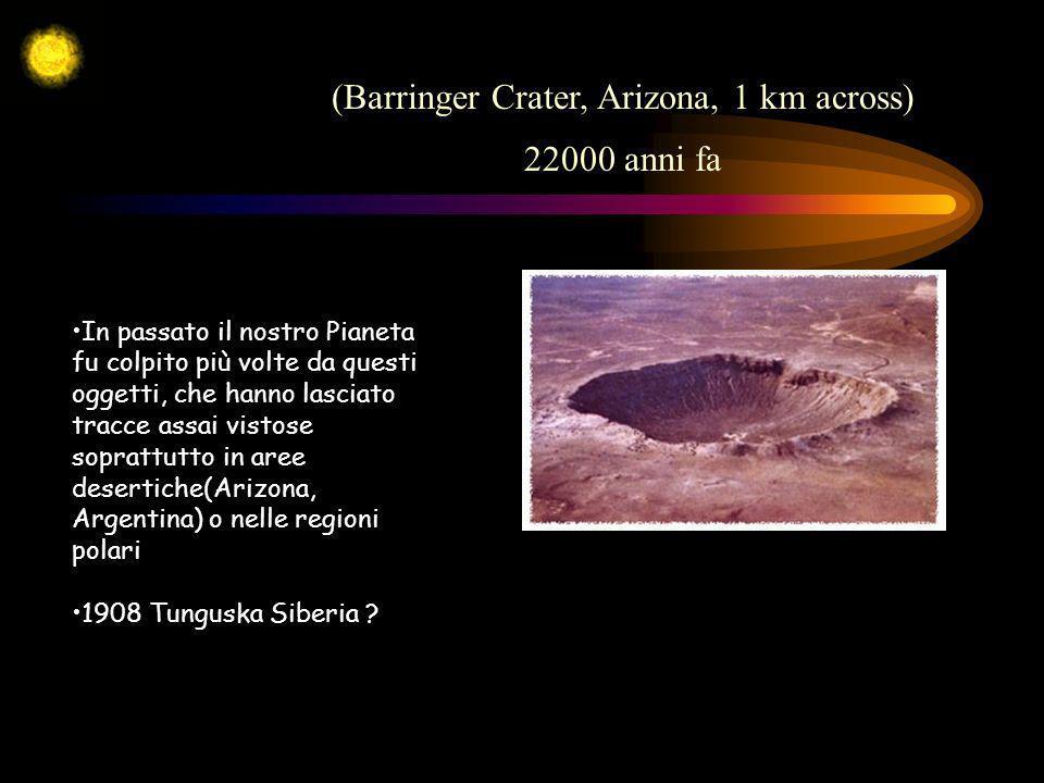 In passato il nostro Pianeta fu colpito più volte da questi oggetti, che hanno lasciato tracce assai vistose soprattutto in aree desertiche(Arizona, A