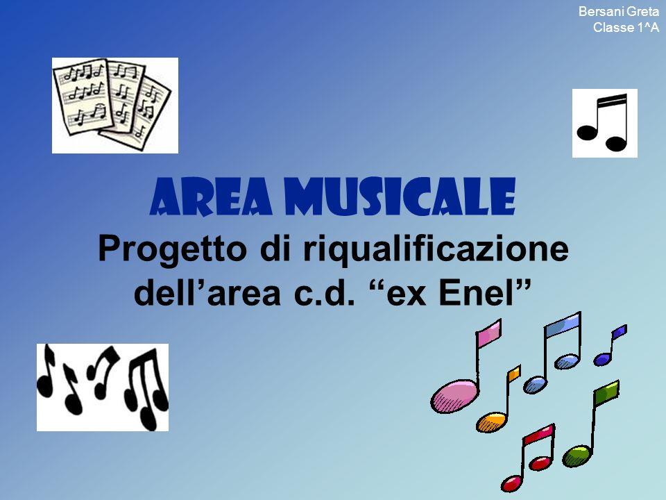 AREA MUSICALE Progetto di riqualificazione dellarea c.d. ex Enel Bersani Greta Classe 1^A