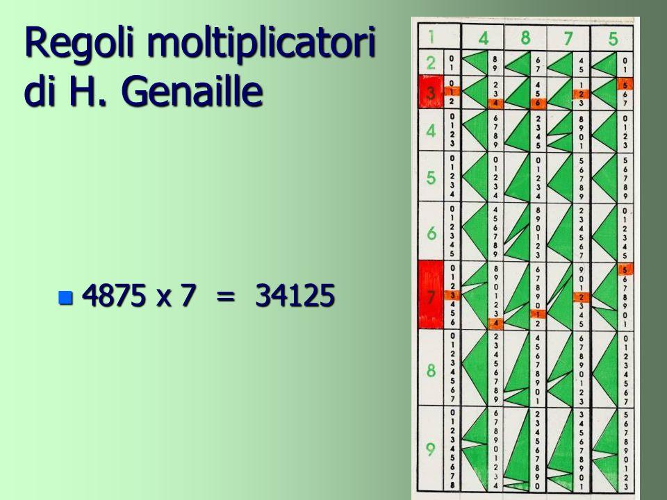 Regoli moltiplicatori di H. Genaille n 4875 x 7 = 34125