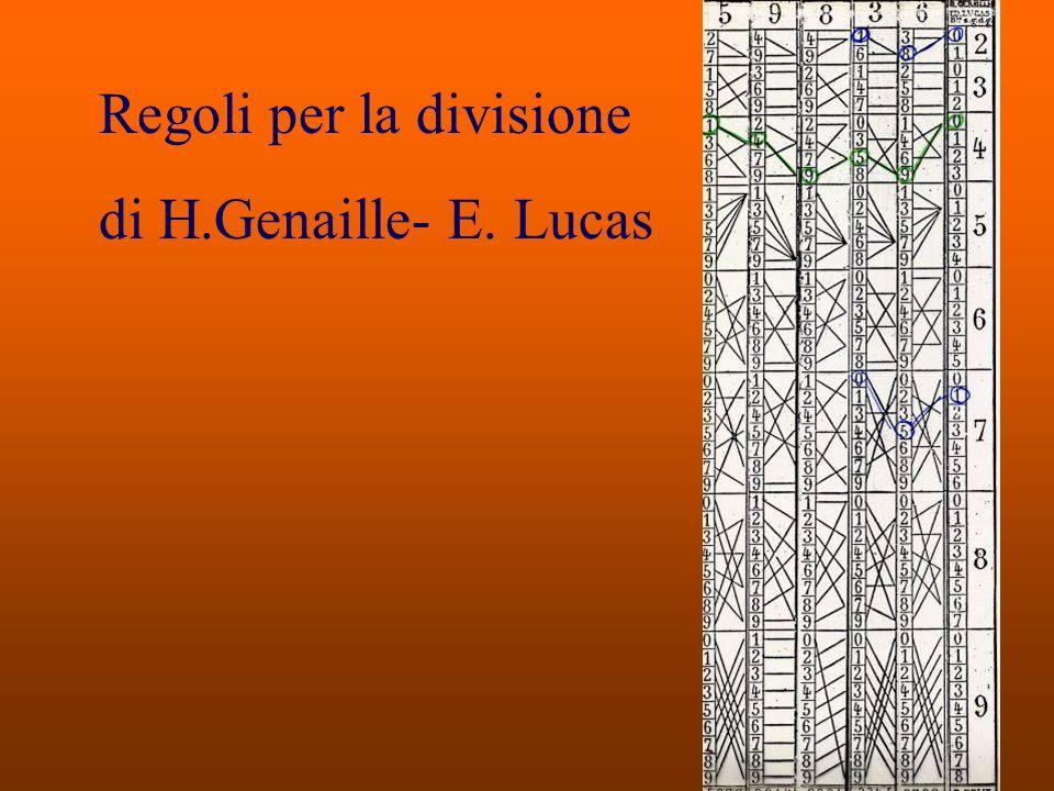 Regoli per la divisione di H.Genaille- E. Lucas