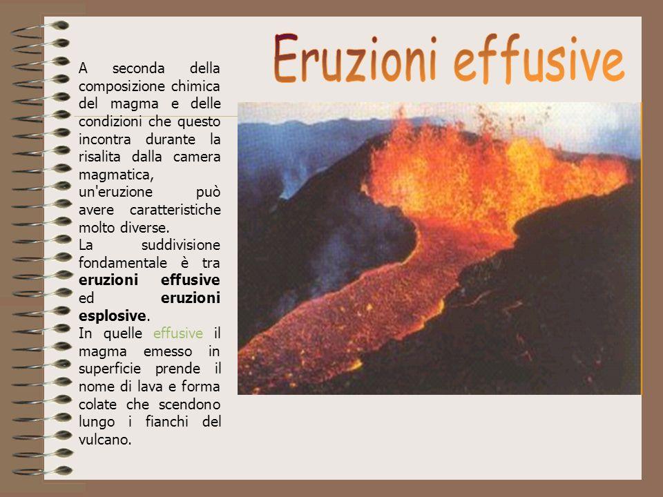 A seconda della composizione chimica del magma e delle condizioni che questo incontra durante la risalita dalla camera magmatica, un'eruzione può aver