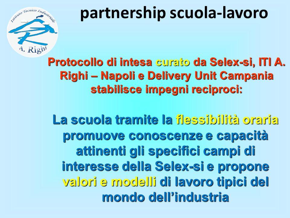 La scuola tramite la flessibilità oraria promuove conoscenze e capacità attinenti gli specifici campi di interesse della Selex-si e propone valori e m