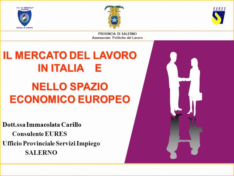 PROVINCIA DI SALERNO Assessorato Politiche del Lavoro È una rete di cooperazione (coordinata dalla Commissione europea) per facilitare la libera circolazione dei lavoratori allinterno dello Spazio Economico Europeo.