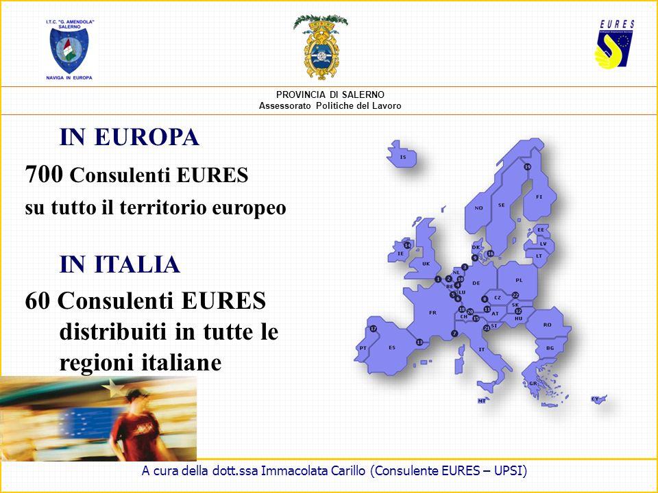 PROVINCIA DI SALERNO Assessorato Politiche del Lavoro È una rete di cooperazione (coordinata dalla Commissione europea) per facilitare la libera circo