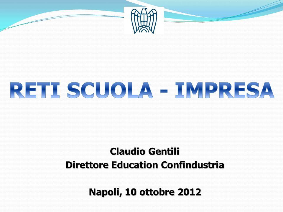Claudio Gentili Direttore Education Confindustria Napoli, 10 ottobre 2012
