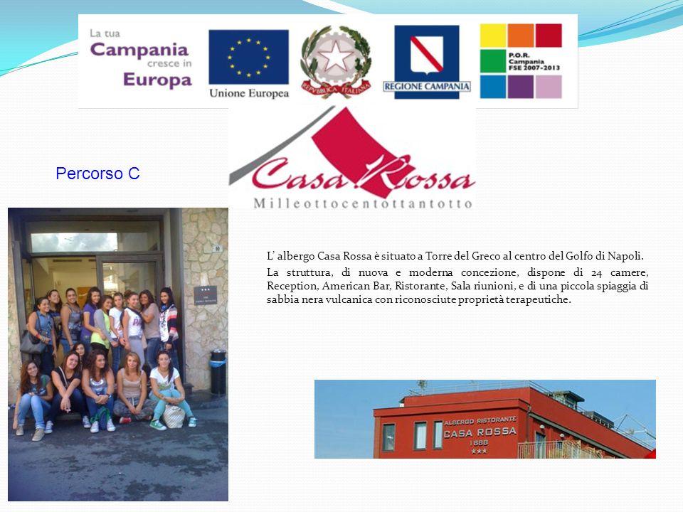 L albergo Casa Rossa è situato a Torre del Greco al centro del Golfo di Napoli.