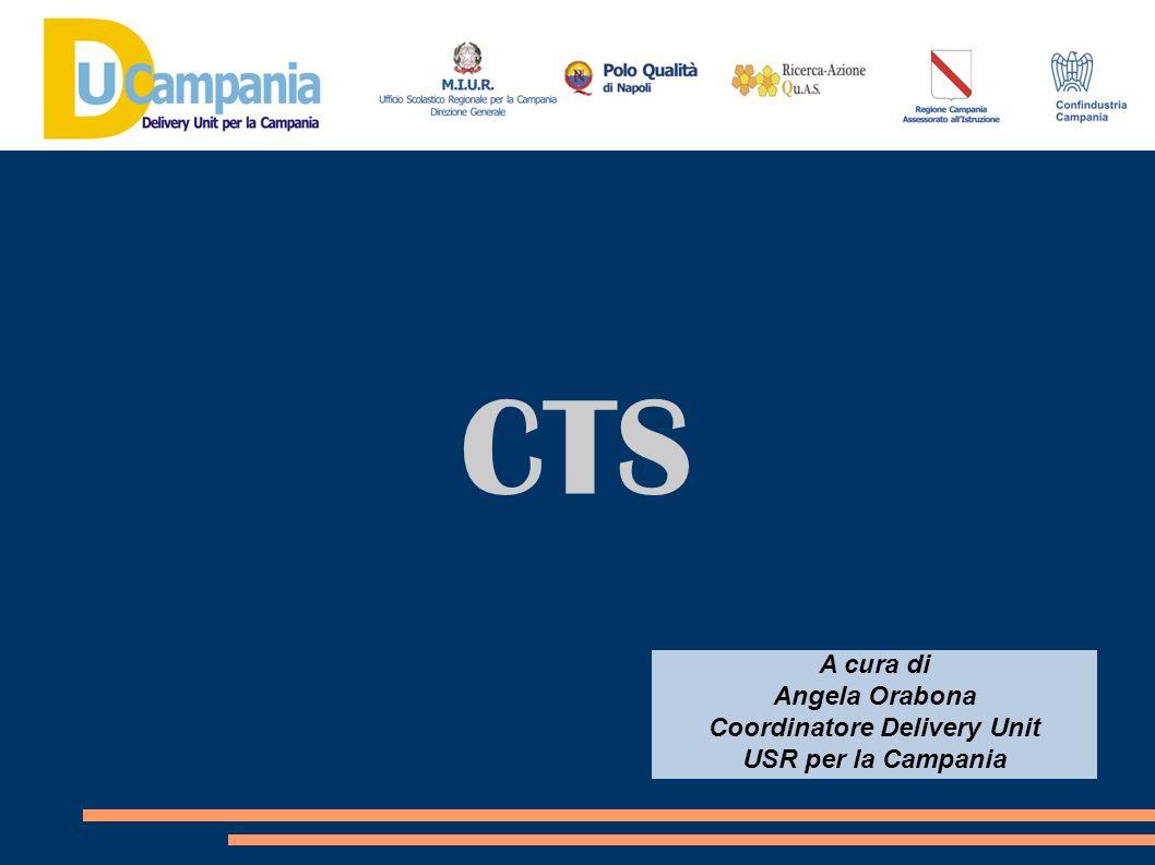 CTS A cura di Angela Orabona Coordinatore Delivery Unit USR per la Campania