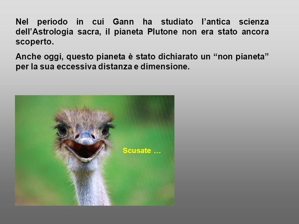 Nel periodo in cui Gann ha studiato lantica scienza dellAstrologia sacra, il pianeta Plutone non era stato ancora scoperto. Anche oggi, questo pianeta