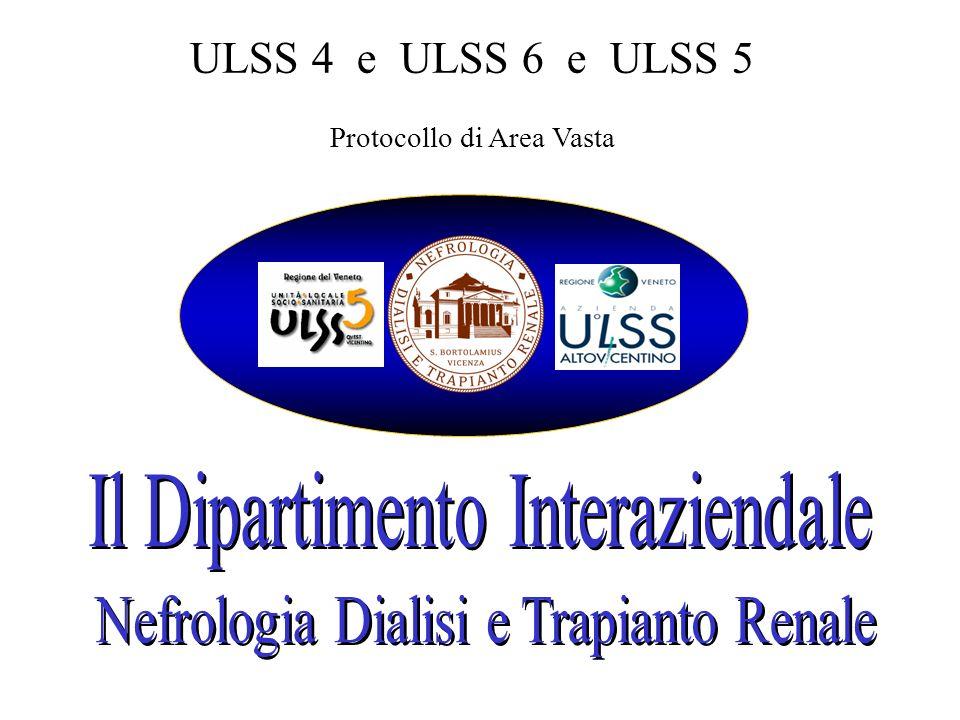 ULSS 4 e ULSS 6 e ULSS 5 Protocollo di Area Vasta