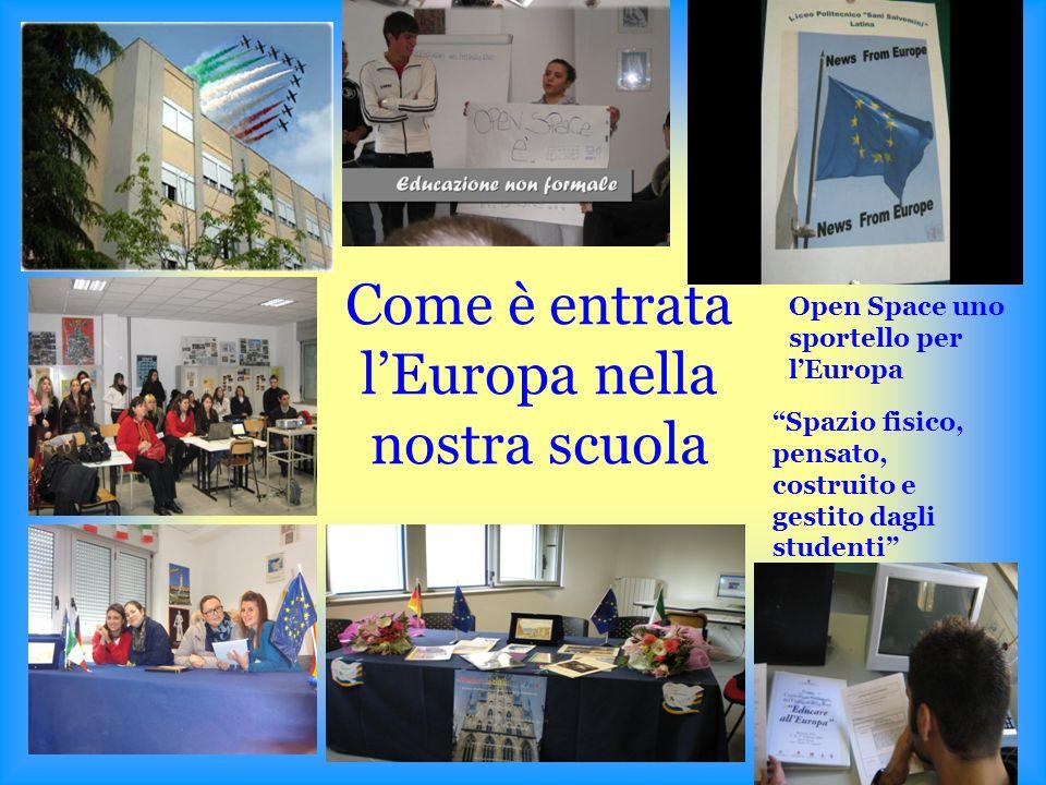 Come è entrata lEuropa nella nostra scuola Open Space uno sportello per lEuropa Spazio fisico, pensato, costruito e gestito dagli studenti