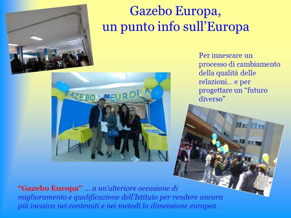 Gazebo Europa, un punto info sullEuropa Gazebo Europa … a unulteriore occasione di miglioramento e qualificazione dellIstituto per rendere ancora più incisiva nei contenuti e nei metodi la dimensione europea.