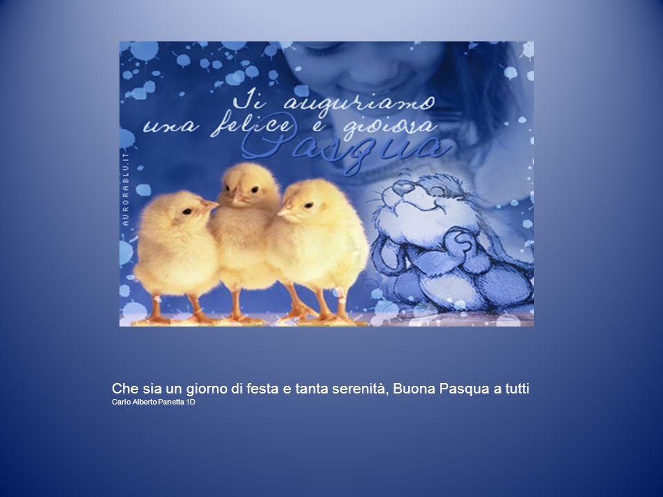 Che sia un giorno di festa e tanta serenità, Buona Pasqua a tutti Carlo Alberto Panetta 1D