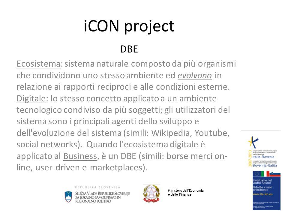 iCON project DBE Ecosistema: sistema naturale composto da più organismi che condividono uno stesso ambiente ed evolvono in relazione ai rapporti reciproci e alle condizioni esterne.